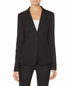 Look what I found on #zulily! Black Collection Two-Button Jacket #zulilyfinds