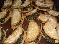 Tacos fourrés d'épinard à la noix.(16 tacos)