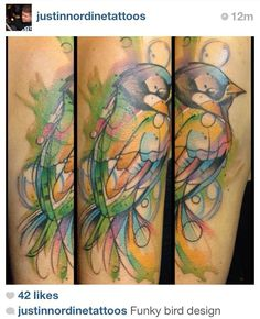 2017 trend Watercolor tattoo - Watercolor tattoo by Justin Nordine...