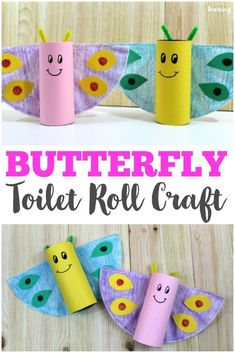 Make this easy spring toilet roll butterfly craft with your kids! So fun and simple for little ones! #kidscrafts #craftsforkids #activitiesforkids #activities