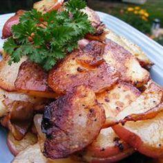 Homefried Potatoes With Garlic And Bacon Recipe — Dishmaps