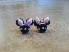 Easter Bunny Mickey Mouse Minnie Mouse Inspired Earrings