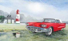 "Saatchi Art Artist John Lowerson; Painting, ""Ford Thunderbird"" #art"