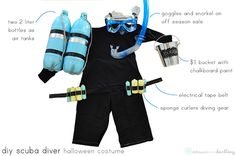 DIY Scuba Diver Kids Halloween Costume, Delineate Your Dwelling