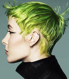 Karine Jackson Short Green Hairstyles
