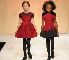 Quis Quis girls red dress. Italian designer Stefano Cavelleri