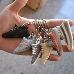 3d4c1d7ae4193 Style Silicone Keychain Sneaker 3D Key Chain Keys