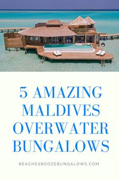 5 Amazing Maldives Overwater Bungalows Holiday Destinations, Travel Destinations, Overwater Bungalows, Maldives Resort, Beach Quotes, Beach Fun, Vacation Spots, Places To Visit, Around The Worlds
