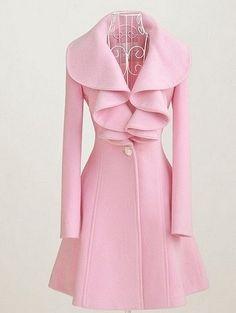 96fdb38efa4 Female Warm Big Size Thick Overcoat New Autumn Full Sleeve Ruffle Cardigan  Coat Casaco Feminino Winter Woolen Jackets Manteau