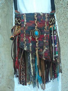 Handmade Boho Fringe Bag Hippie Gypsy Tribal Western Cross Body Purse tmyers #Handmade #MessengerCrossBody