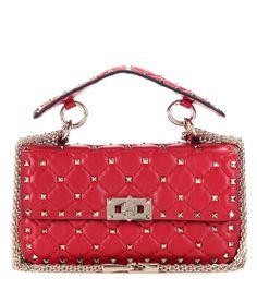 mytheresa.com - Rockstud Spike Small quilted leather handbag - Current week…