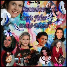 Carrie Fisher Collage' Photoartist LisaKay Allen/PassionFeast