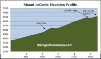 Mt. LeConte via Alum Cave Trail - Great Smokey Mountains National Park - 11 miles round trip - stay at lodge on top