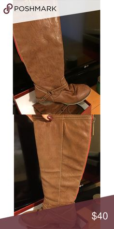 Breckelles Tall Brown Boots Tall brown boots from breckelles with zipper up the back. Only worn twice!! Breckelles Shoes Combat & Moto Boots