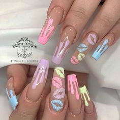 Likes, 40 Comments - Nail Inspo Jade Nails, Aycrlic Nails, Bling Nails, Swag Nails, Manicure, Nail Nail, Glitter Nails, Summer Acrylic Nails, Best Acrylic Nails