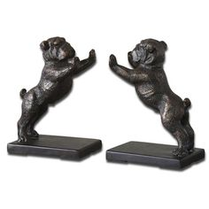 Cast Iron Bulldog Bookends | Overstock.com Shopping - The Best Deals on Accent Pieces