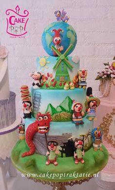 Anyela Ramos Molina maakte deze prachtige Jokie en Jet reizen de wereld rond-Taart en won hiermee een 3e prijs bij een kindertaarten wedstrijd Birthday Parties, Birthday Cake, Happy Day, Cakepops, Cake Decorating, Wedding Cakes, Cupcakes, Party, Desserts