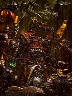 Warhammer 40k Art, Warhammer Fantasy, Adrian Smith, Post Apocalypse, The Grim, Space Marine, Sci Fi Fantasy, Priest, Creatures