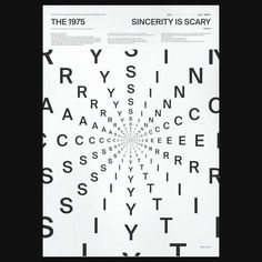 """Nieuwe single The 1975 – """"Sincerity is Scary"""" The 1975 Poster, All Poster, Poster Wall, Typography Poster, Graphic Design Typography, Museum Poster, Layout, Band Posters, Type Posters"""