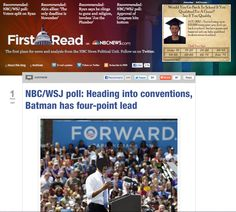 NBC/WSJ poll: Heading into conventions, Batman has four-point lead