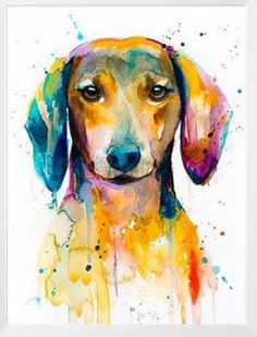 Red Dachshund watercolor painting print by Slaveika Aladjova image 1 Dachshund Tattoo, Dachshund Breed, Dachshund Funny, Dachshund Art, Long Haired Dachshund, Daschund, Dog Paintings, Painting Prints, Watercolor Paintings