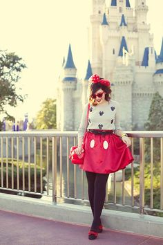 Use clothes you already have in your closet to rock a Minnie Mouse costume.
