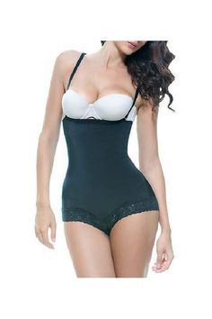9d4d7838b74de Vedette Shapewear 134 SCARLETT Strapless Shapewear Body w  Lace Trim Black  Large     See this great product.
