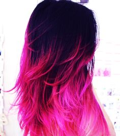 colorful dip dye hair | my style! - Discover inspiring fashion sets you'll love