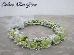 calanchoe + gipsówka Love Flowers, Wedding Flowers, Crown Hairstyles, Bridal Headpieces, Flower Crown, Holi, Floral Wreath, Hair Crown, Bouquet