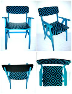 Pop-art mintás retro karosszék párPair of mid century armchairs with pop-art motifs Mid Century Armchair, Mosaic Projects, Mosaic Designs, Armchairs, Pop Art, Furniture, Home Decor, Wing Chairs, Couches