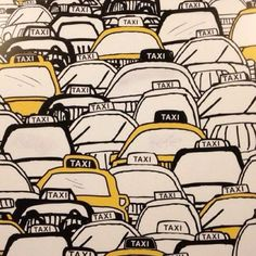 i love taxis, and art is no exception Pattern Illustration, Art And Illustration, Textile Patterns, Print Patterns, Textiles, Conversational Prints, Design Art, Graphic Design, Illustrations