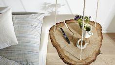 Wiszący stolik z plastra drewna KROK PO KROKU