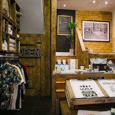 The outside of the store has all the class of a gentleman's outfitters, and inside has bags of rugged charm thanks to a wooden interior that looks it'll be around for a couple of hundred more birthdays...