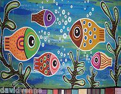 karla gerard   Fishes in A Pond 8x10 Canvas Giclee Print Karla Gerard   eBay