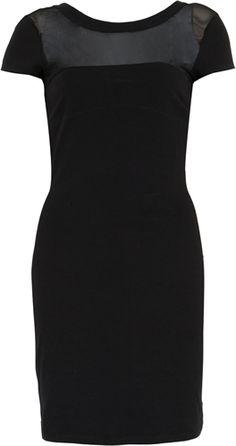 Vestido Carmim Recorte Preto (2957708) - Fashion Social Discover Platform - Fashion.me