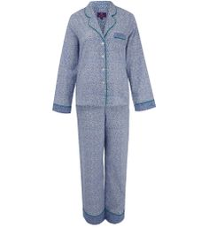 Liberty London Blue Esteban Print Cotton Pyjama Set