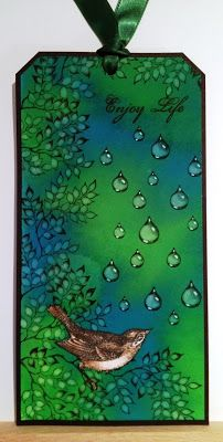Would like to do the clear rain drop with dark backround and the umbrella  on a card.Wendy's Card Craft