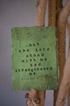 But the Lord Stood with Me and Strengthened Me by PaperandMallet