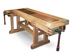 Woodworker: Thomas Borowicz A tool-and-die maker and industrial engineer, Borowicz is interested in precision, and his bench shows it. A granite plate (3-1/2-in. thick by 12-in. wide by 18-in. long...