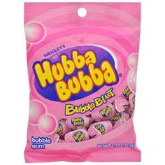 The original bubble gum we all know and love. Each big piece is individually wrapped so it stays soft and fresh. Ideal for children and adults. 3.17-oz. bag of Hubba Bubba® Bubble Blast Bubble Gum.