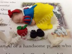 BABY FONDANT TOPPER - fondant yellow dress baby cake topper. Great for baby shower or first birthdays.