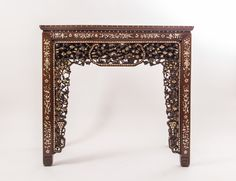 An inlaid console table China, Qing Dynasty, 19th Century