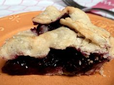 "Blueberry Pie: ""I love the taste of mouth-watering fresh blueberry pie!   This blueberry pie is probably the best I have ever tasted."" -Bev"