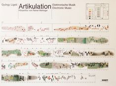 Artikulation ( vid ): the graphical score for Gyorgy Ligeti's electronic composition from It was produced by Rainer Wehinger twelve years after the original music was recorded. Watch the video. Information Design, Information Graphics, Graphic Score, Music Visualization, Experimental Music, Sound Art, Music Score, Architecture Drawings, Architecture Photo