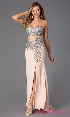 Strapless Sweetheart Floor Length Dress at PromGirl.com http://www.promgirl.com/shop/viewitem-PD742049