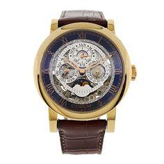 Corum 18k Rose Gold Skeleton Perpetual Calendar Mens Automatic Watch RARE 183201550F0TR