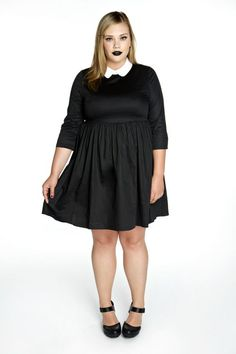 Chic Black And White Plus Size Dresses