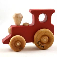 Woodworking Projects For Kids Personalized Toy Train - Choose Any Color - Wooden Toy Train - Etsy Kids Kids Woodworking Projects, Woodworking School, Wood Projects, Woodworking Tips, Youtube Woodworking, Woodworking Machinery, Popular Woodworking, Wooden Toy Train, Push Toys