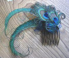 Wedding Party Prom Hair Comb with Swarovski by TessaRhewsDesigns, $15.00
