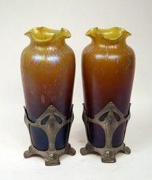 Pair of Loetz vases
